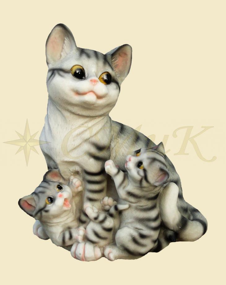 Фигура кошка с котятами купить недорого от производителя в ...